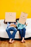 Paare, die Spaß spielen lizenzfreie stockfotografie