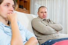 Paare, die Streit zu Hause haben Stockfotografie