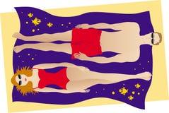 Paare, die sunbath haben Stockbilder