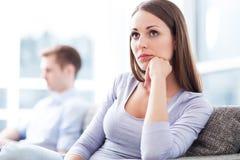 Paare, die Verhältnis-Probleme haben Stockfotos