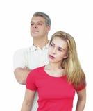 Paare, die weg schauen Lizenzfreie Stockfotos