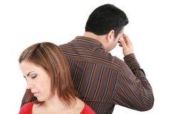 Paare, die zurück zu Rückseite stehen Lizenzfreies Stockbild