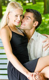 Paare, die zusammen gehen Stockfoto