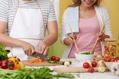 Paare, die zusammen kochen lizenzfreie stockbilder