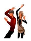 Paare, die zusammen tanzen stock abbildung