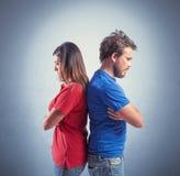 Paare Fighting Lizenzfreie Stockfotografie