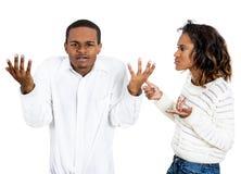 Paare Fighting Stockbild