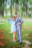 Paare geheiratet in der Natur Lizenzfreies Stockbild