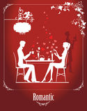 Paare im Café Stockbild