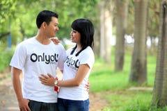 Paare im Freien Stockbilder