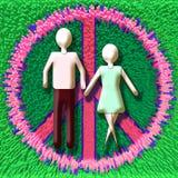 Paare im Frieden Stockfoto