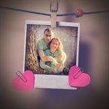 Paare im Liebesaugenblickfoto Stockfoto