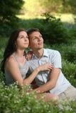 Paare im Park. Stockfotografie