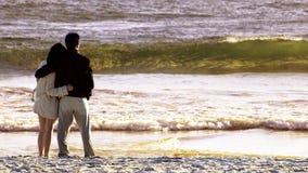 Paare im Strand Stockbilder