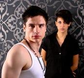 Paare im Studio lizenzfreie stockbilder