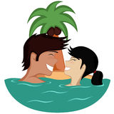 Paare im Wasser Lizenzfreie Stockfotografie