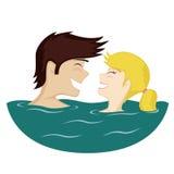 Paare im Wasser Lizenzfreies Stockfoto
