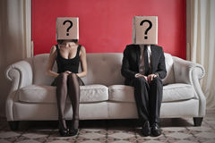Paare im Zweifel Stockbild
