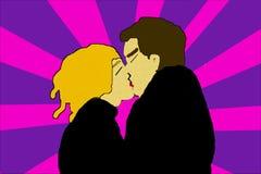 Paare küssen - zwei in der Liebe lizenzfreie stockfotos