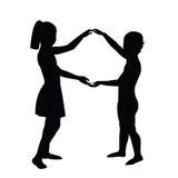 Paare Kinder Lizenzfreies Stockfoto