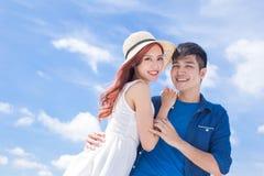 Paare lächeln glücklich Lizenzfreies Stockfoto