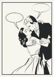 Paare in Liebe Vektor Illustraton lizenzfreie stockfotos