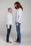 Paare mit extremen Frisuren Lizenzfreie Stockfotografie