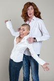 Paare mit extremen Frisuren Lizenzfreie Stockbilder