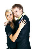 Paare mit Gewehren Lizenzfreie Stockfotos