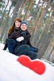 Paare mit Innerem stockfotografie