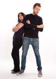 Paare mit kontrastierten Höhen Lizenzfreie Stockfotografie