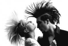 Paare mit Mohikaner Stockbild