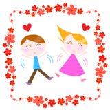 Paare mit Rand Stockfoto