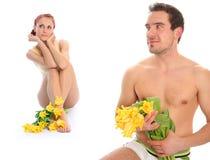 Paare mit Tulpen Stockbilder
