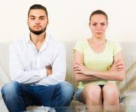 Paare nach Streit Stockfoto