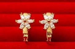Paare Ohrringe getrennt Stockbilder