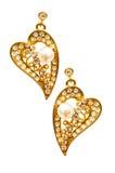 Paare Ohrringe getrennt Lizenzfreie Stockbilder
