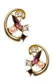 Paare Ohrringe getrennt Lizenzfreies Stockfoto