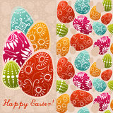 Paare Ostern-Karten mit gemalten Eiern Stockbilder