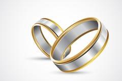 Paare Ringe lizenzfreie abbildung