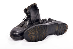 Paare Schuhe eines britischen Soldaten Stockfoto