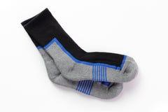 Paare Socken lokalisierten weißen Hintergrund Lizenzfreies Stockfoto