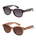 Paare Sonnenbrillen in den verschiedenen Farben Stockfoto