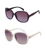 Paare Sonnenbrillen in den verschiedenen Farben Lizenzfreies Stockbild