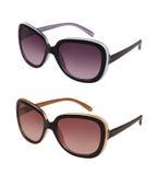 Paare Sonnenbrillen in den verschiedenen Farben Lizenzfreies Stockfoto