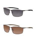 Paare Sonnenbrillen in den verschiedenen Farben Stockbild