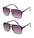 Paare Sonnenbrillen in den verschiedenen Farben Stockfotos