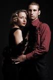 Paare stilisiert in der Retro- Art stockbilder