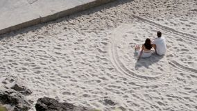 Paare am Strand stock footage