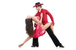 Paare Tänzer lokalisiert Lizenzfreies Stockbild